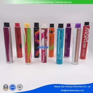 Aluminum tubes for hair color