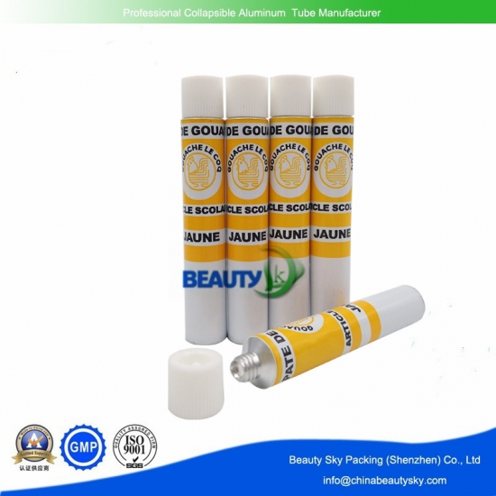 Empty aluminum tubes for watercolor, pigments