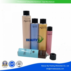 Aluminum tubes for cosmetics