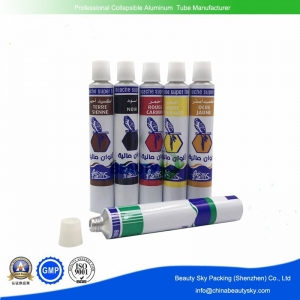 Aluminum tubes for oil painting