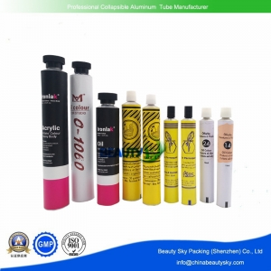 Watercolor, pigments, painting oil packaging aluminum tubes