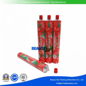 Tomato sauce Tube Packaging Collapsible Aluminum tubes