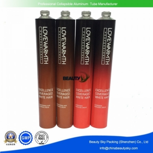 Aluminum tube for hair color