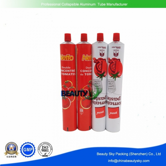 Aluminum tube for food packaging
