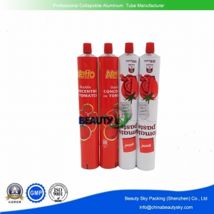 Tomato ketchup Packing Tube Packaging Collapsible Aluminum tubes