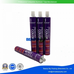Aluminum tubes for hair color cream