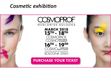 The biggest Cosmetic fair : Cosmoprof – bolonia in 2018